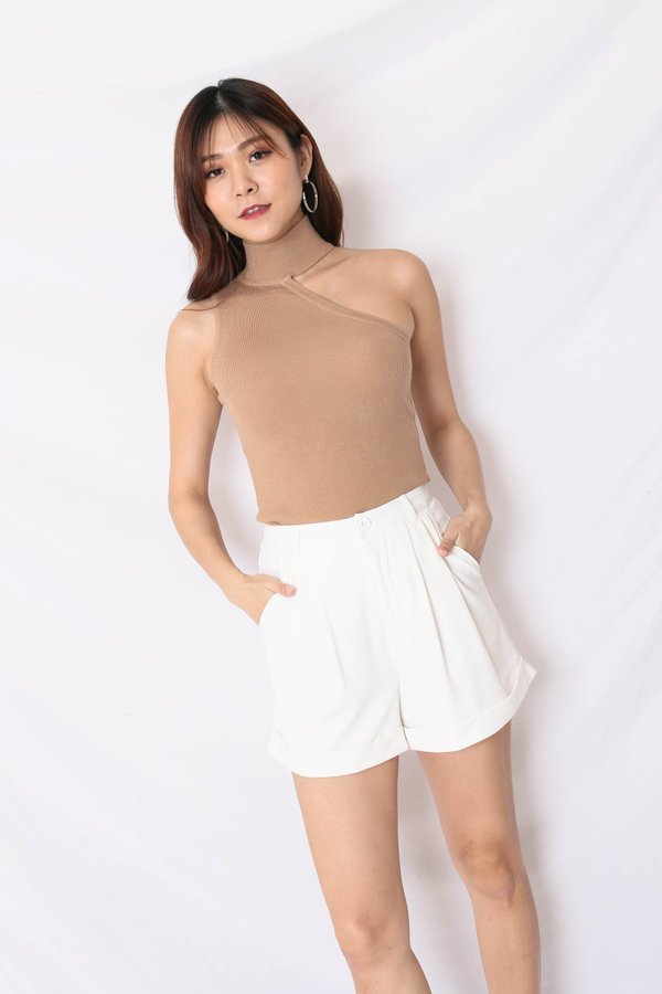 NELIZA KNIT TOP IN TAUPE