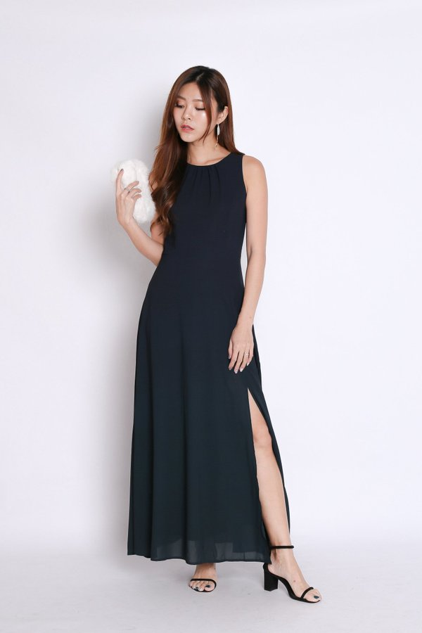 *PREMIUM* STARDUST OMBRE MAXI (NAVY/ FOREST)