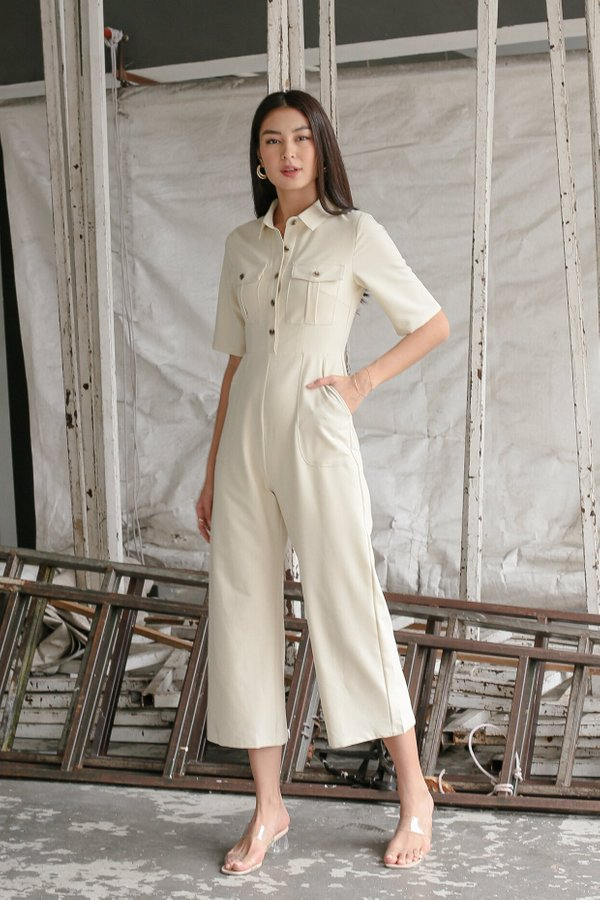 *TPZ* ALCHEMY UTILITY JUMPSUIT IN IVORY