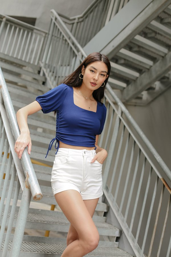 *TPZ* MUST HAVE DENIM SHORTS IN WHITE