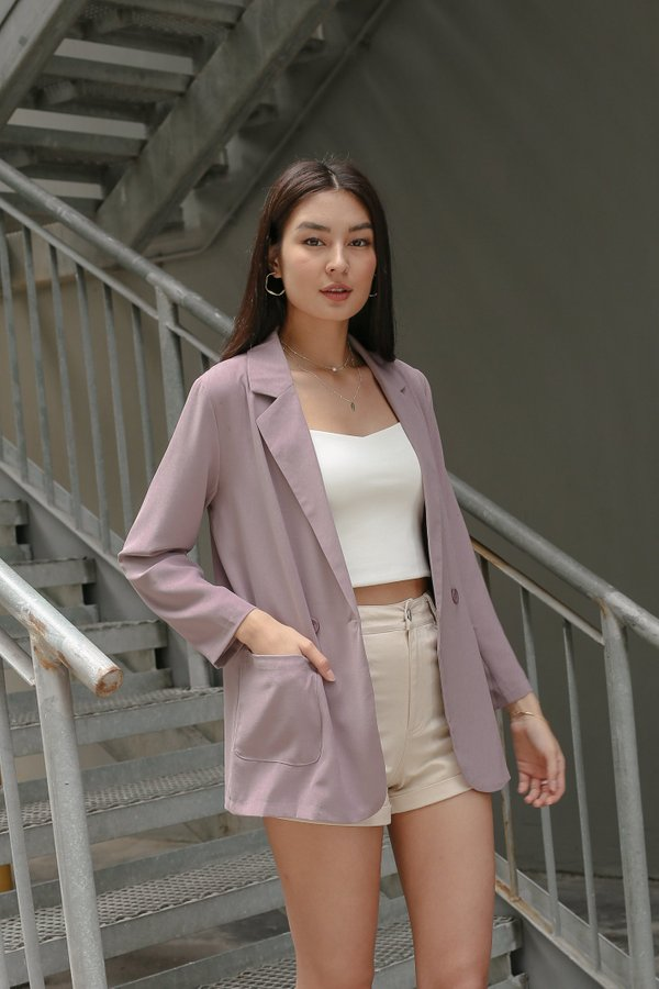 *TPZ* MONDAY TO FRIDAY BLAZER IN MAUVE