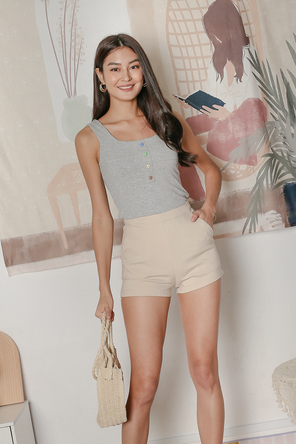 *TPZ* CANDY BASIC TOP IN LIGHT GREY