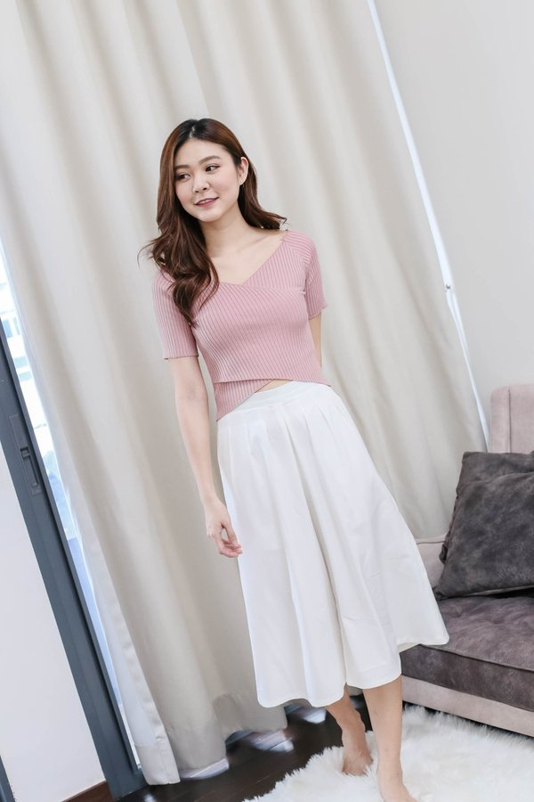 WILLA BASIC KNIT TOP IN PINK