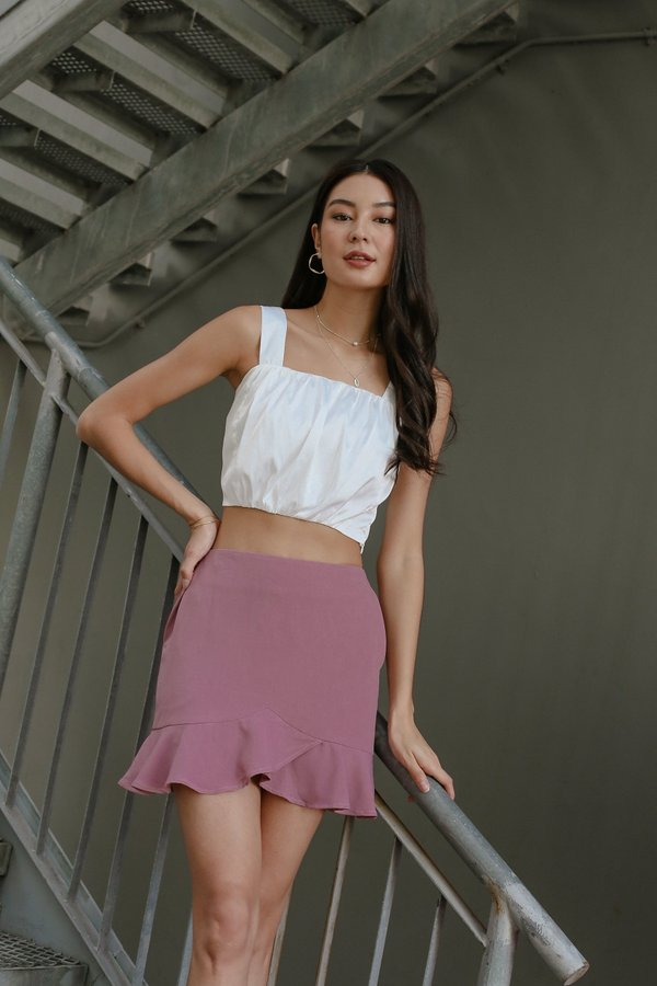 *TPZ* GO WITH THE FLOW SKORTS IN RASPBERRY