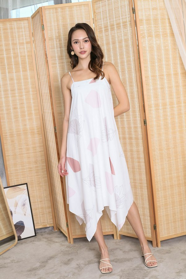 (PREMIUM) BRIAR ABSTRACT TENT DRESS IN PINK