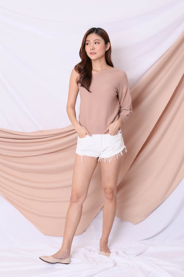 COMFY KNIT TOGA IN TAUPE