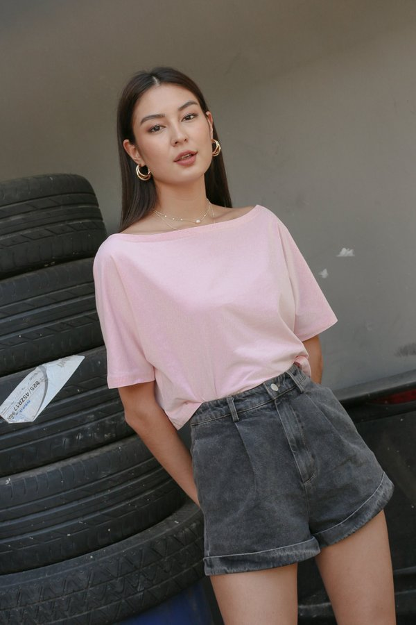 *TPZ* GO CASUAL TEE IN PASTEL PINK