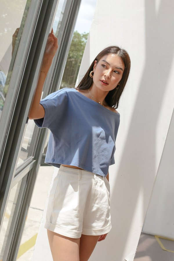 *TPZ* GO CASUAL TEE IN STALE BLUE