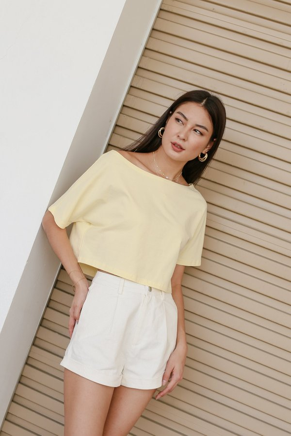 *TPZ* GO CASUAL TEE IN BUTTERMILK YELLOW