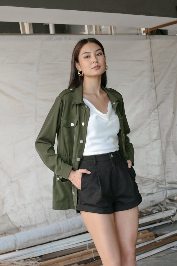 *TPZ* OUT AND ABOUT PARKA IN MILITARY GREEN