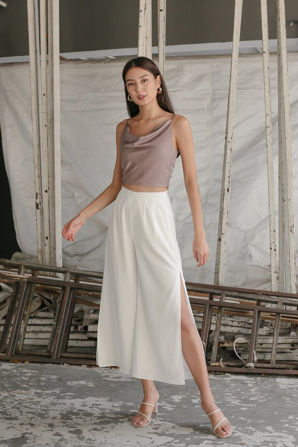 *TPZ* A CUT ABOVE THE REST SLIT PANTS IN WHITE