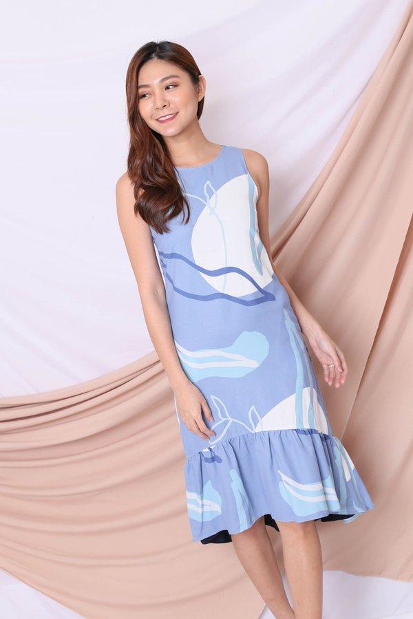 *TPZ* (PREMIUM) ELIS REVERSIBLE ASYMMETRICAL DRESS IN BLUE/ NAVY