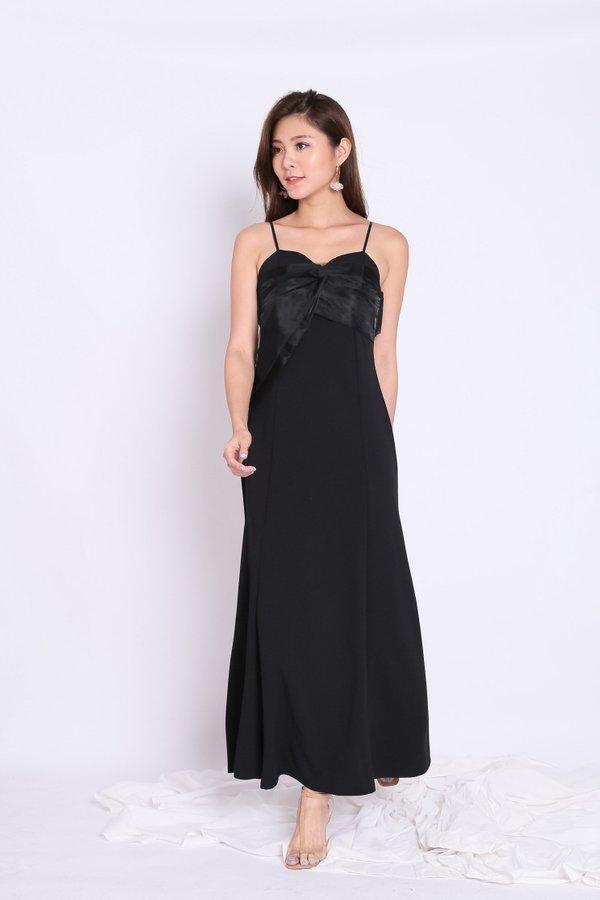MACHELLE ORGANZA DRESS IN BLACK