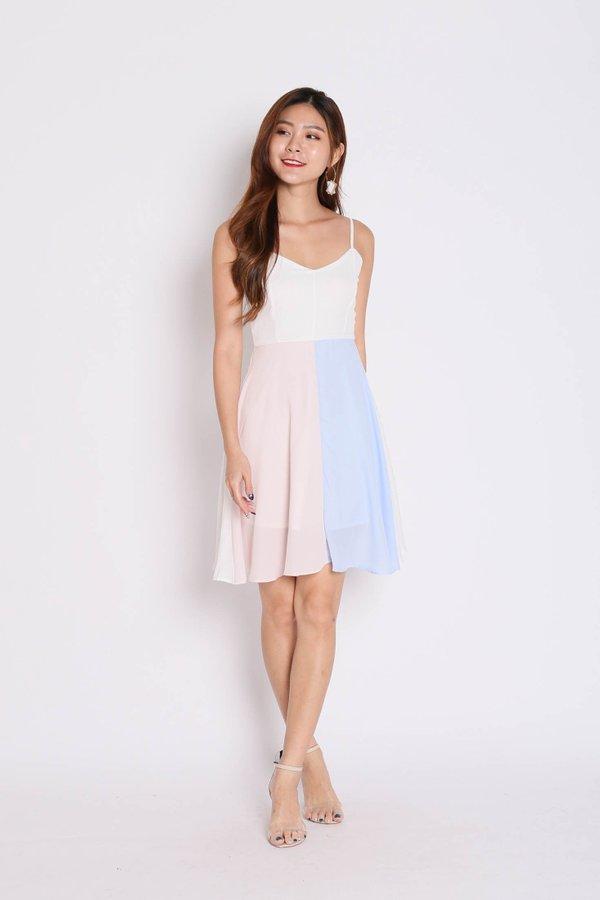 *TPZ* (PREMIUM) ALYCIA COLOURBLOCK DRESS (TEAM PINK/ BLUE)