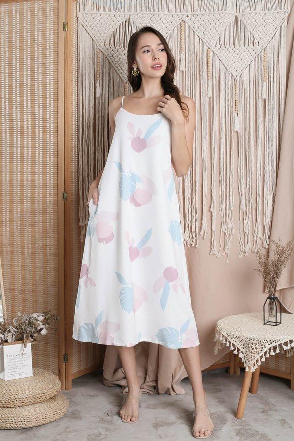 (PREMIUM) PASTEL DREAMS TENT DRESS IN WHITE