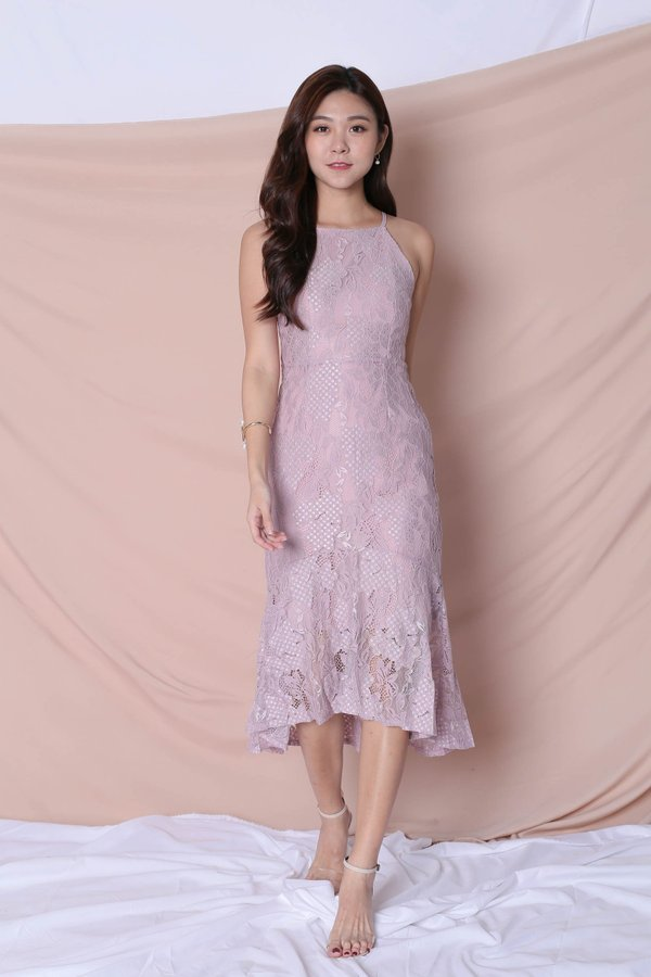 *TPZ* (PREMIUM) PEARLETTE LACE DRESS IN DUSTY PINK