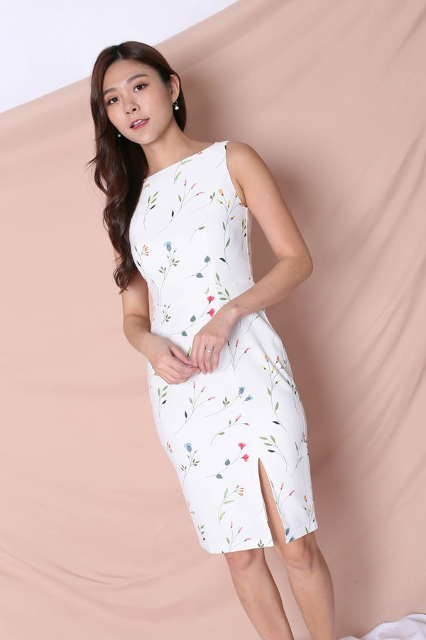 *TPZ* (PREMIUM) ELOISE DRESS IN WHITE FLORALS