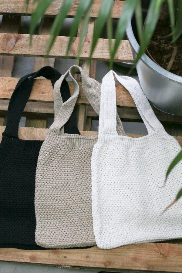 DREA KNIT BAG (CREAM, TAUPE, BLACK)