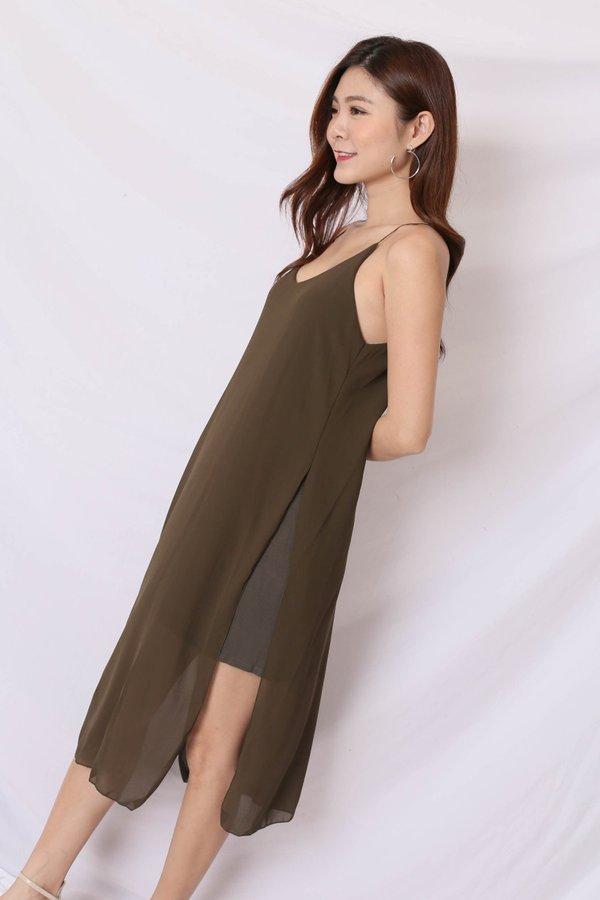 GEN BASIC DRESS IN OLIVE