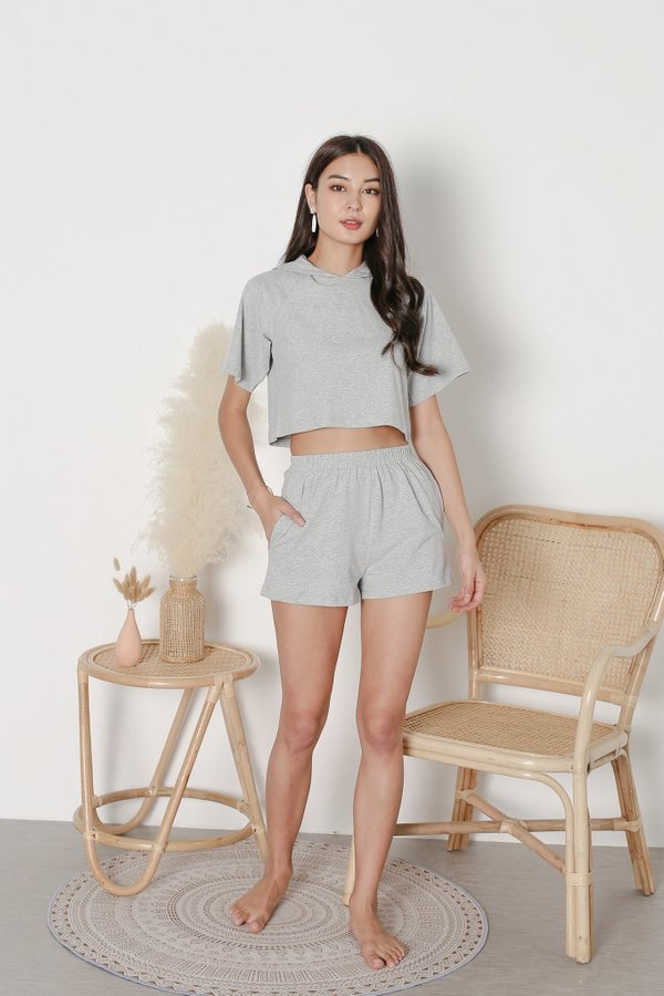 *TPZ* ELEVATED LOUNGE SHORTS IN GREY
