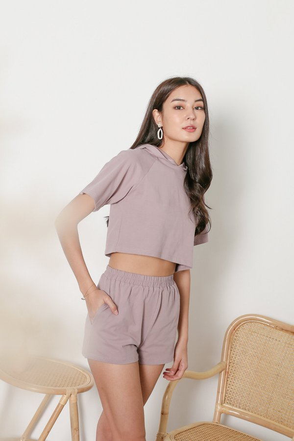 *TPZ* ELEVATED LOUNGE SHORTS IN MAUVE