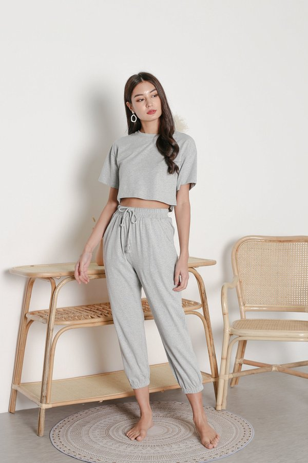 *TPZ* ELEVATED LOUNGE JOGGERS IN GREY