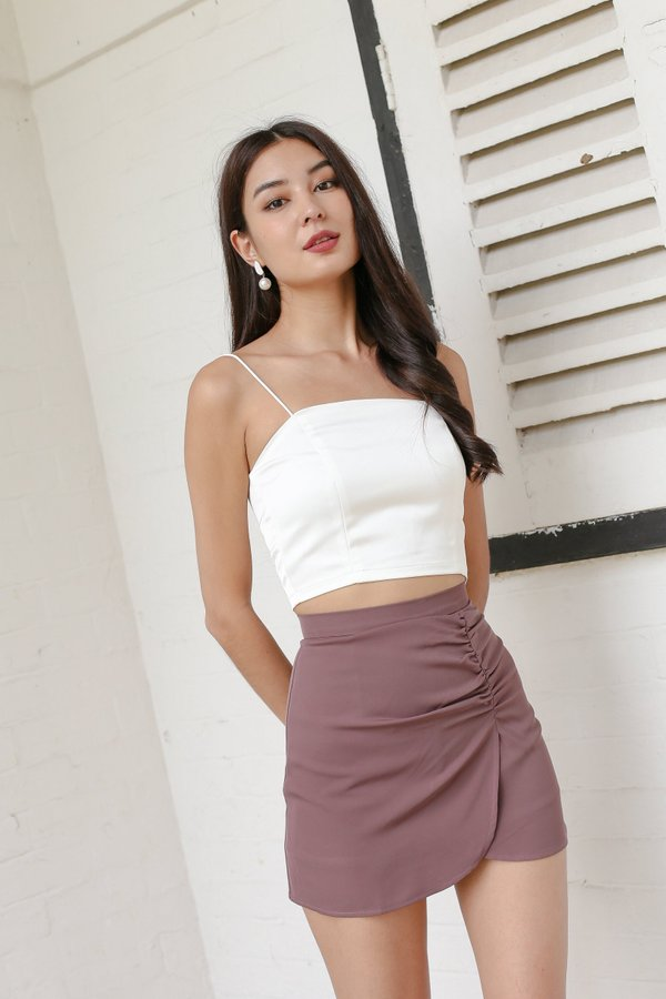 *TPZ* SOULMATE RUCHED SKORTS IN MAUVE