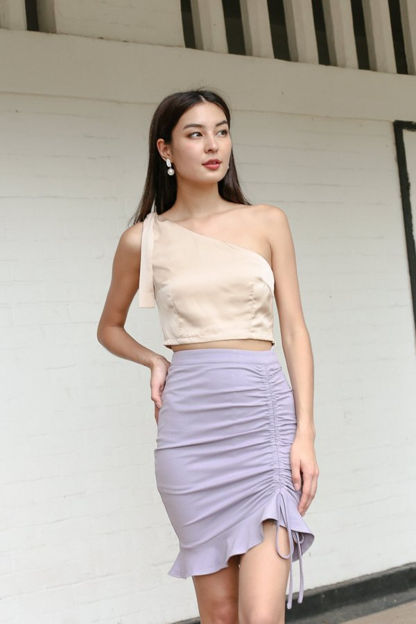 *TPZ* TWILIGHT TOGA SATIN TOP IN CHAMPAGNE