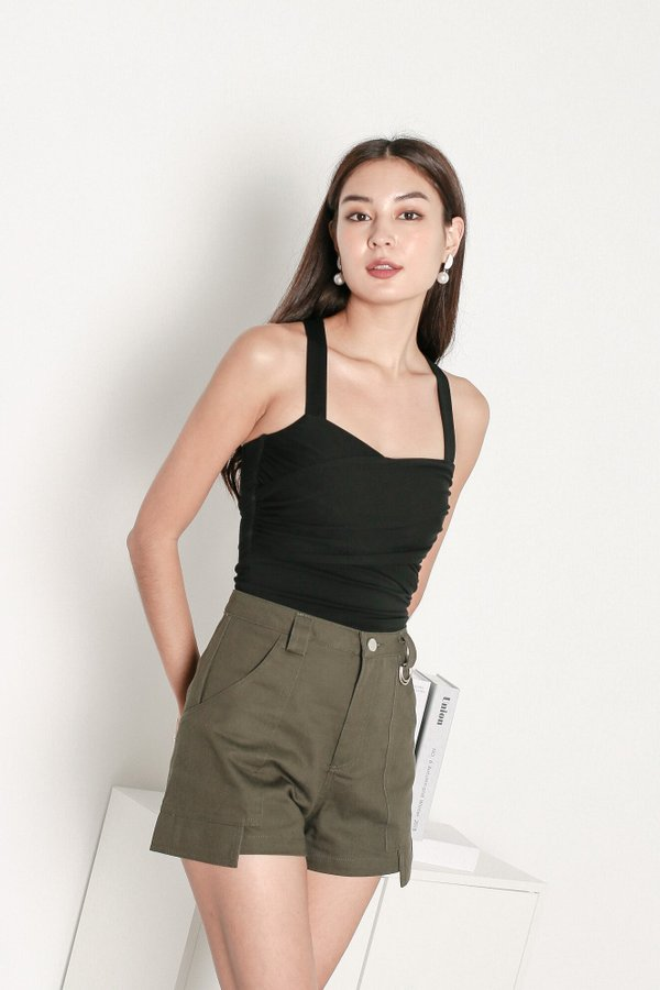 *TPZ* ON THE GO CARGO SHORTS IN MILITARY GREEN
