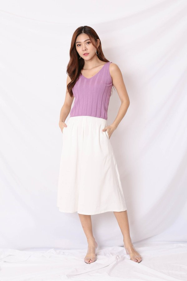 KENSA SOFT KNIT TOP IN LILAC