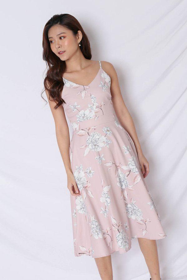 *TPZ* (PREMIUM) SELVIA DRESS IN DUSTY PINK FLORALS