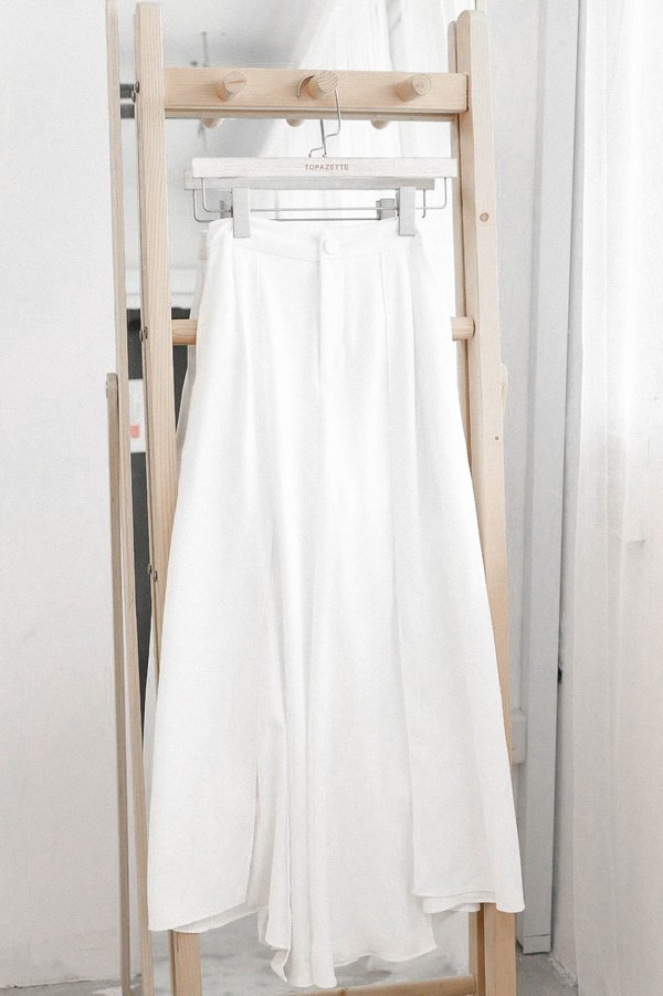 *TPZ* CANDICE SLIT PANTS IN WHITE