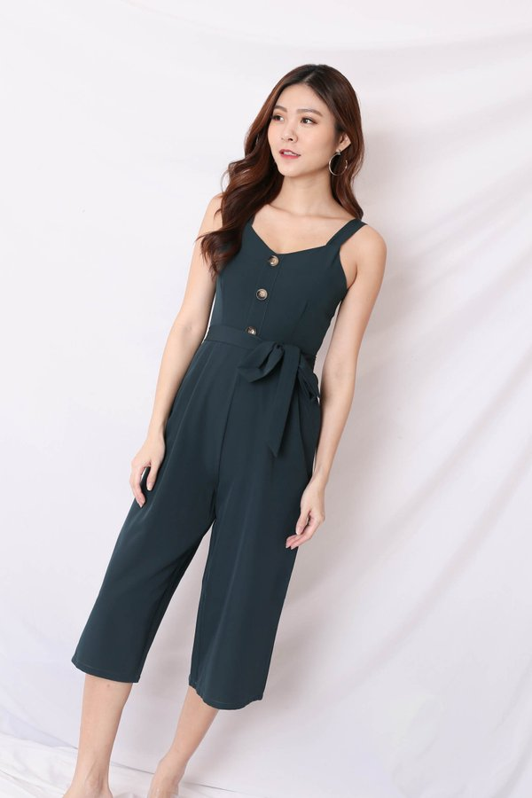 *MADEBYTPZ* (PREMIUM) OPHELIA JUMPSUIT IN FOREST