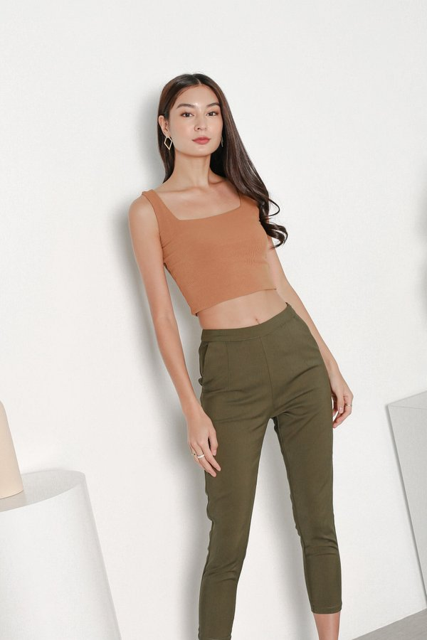 *TPZ* KYLA TAILORED PANTS IN OLIVE