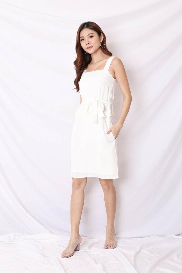 *TPZ* (PREMIUM) CELIA ZIPPER TOP AND DRESS IN WHITE