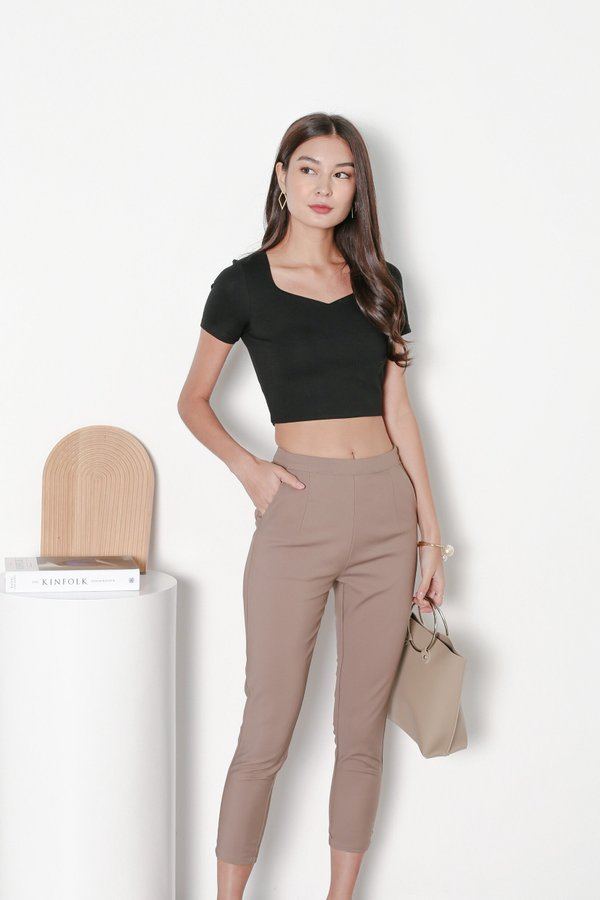 *TPZ* MY SWEETHEART BASIC TOP IN BLACK