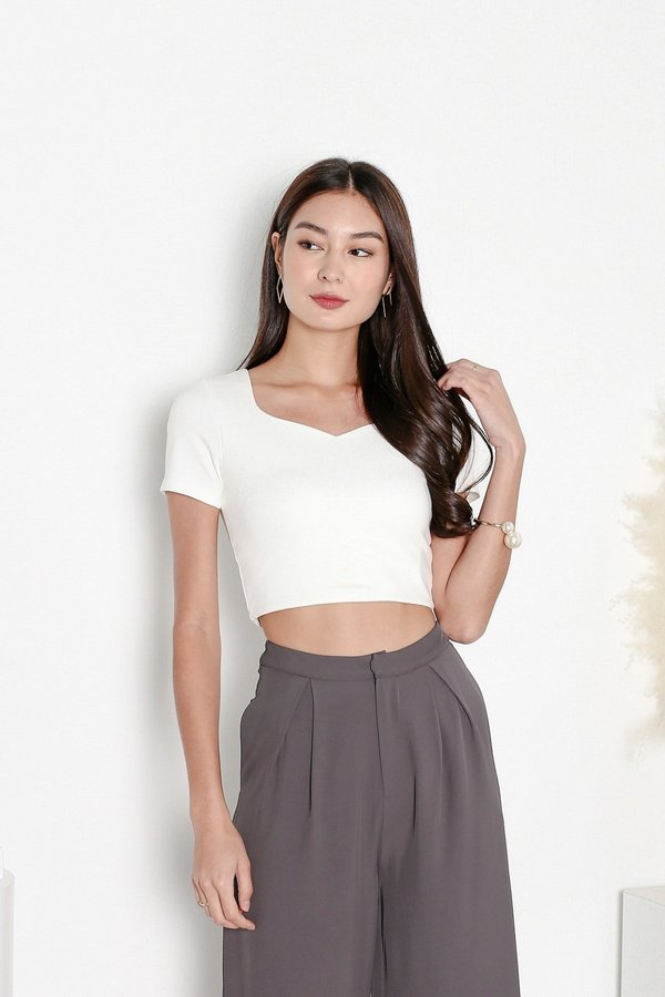 *TPZ* MY SWEETHEART BASIC TOP IN WHITE