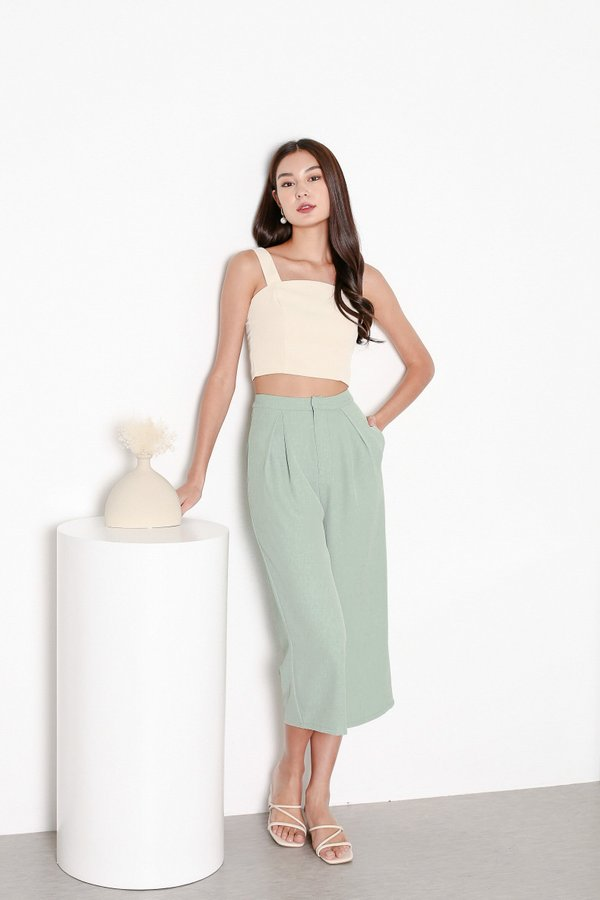 *TPZ* HUSTLE CLASSIC CLASP CULOTTES IN PASTEL GREEN