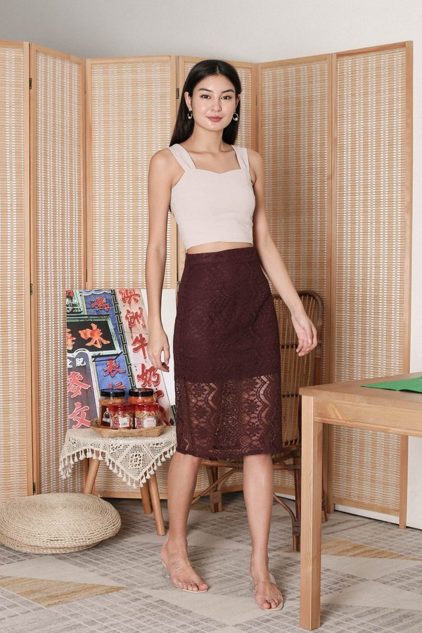 *TPZ* ALYZA CROP TOP IN SAND