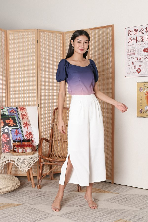 *TPZ* VIOLA OMBRE SWEETHEART TOP (NAVY/ PINK)