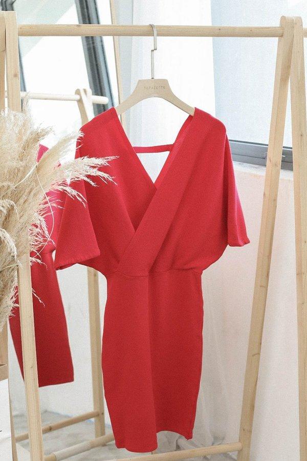 OLIS KIMONO DRESS IN RED