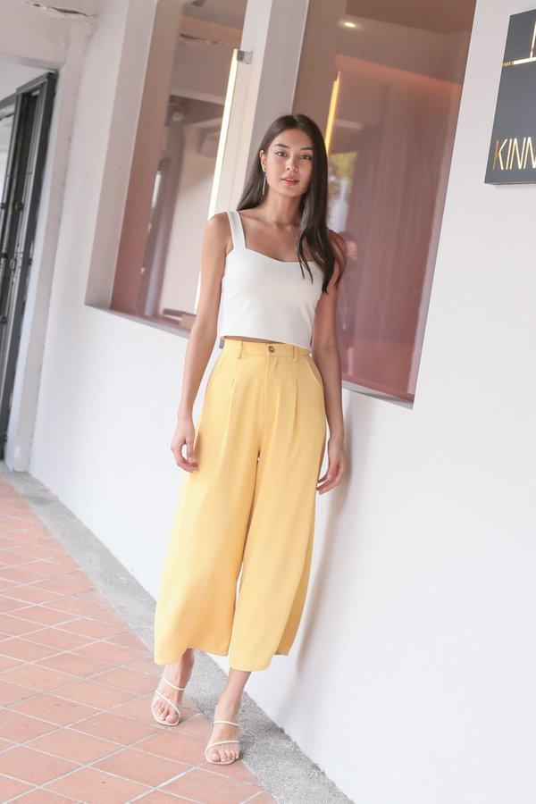 *TPZ* LIANGER PANTS IN MELLOW YELLOW