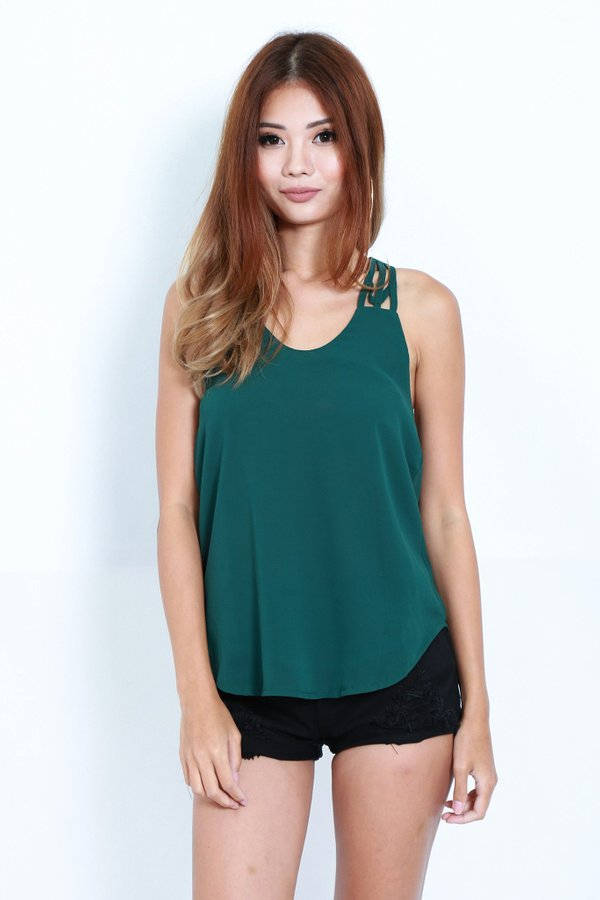 *TOPAZ* ALL IN THE DETAILS TOP IN FOREST