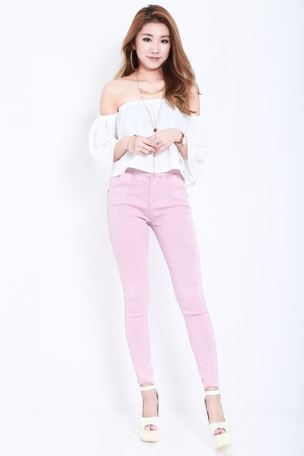 (RESTOCKED) CLASSIC STRETCHY JEGGINGS IN BABY PINK