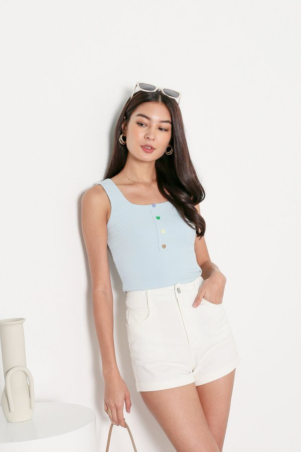 *TPZ* CANDY BASIC TOP IN BABY BLUE