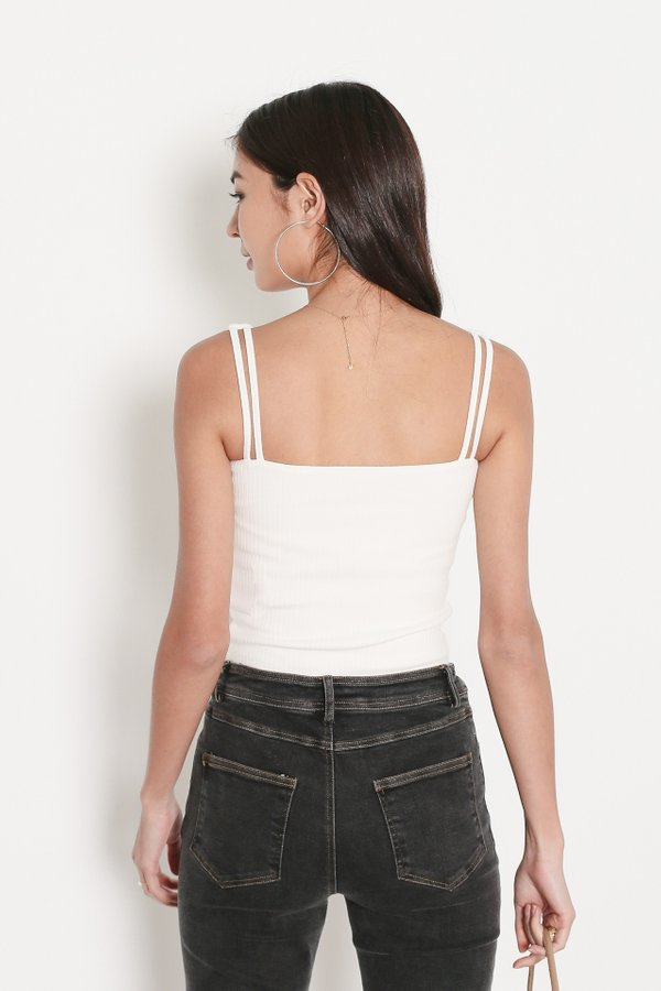 *TPZ* ZONIA 2 WAY TOP IN WHITE *WITH SCRUNCHIE*