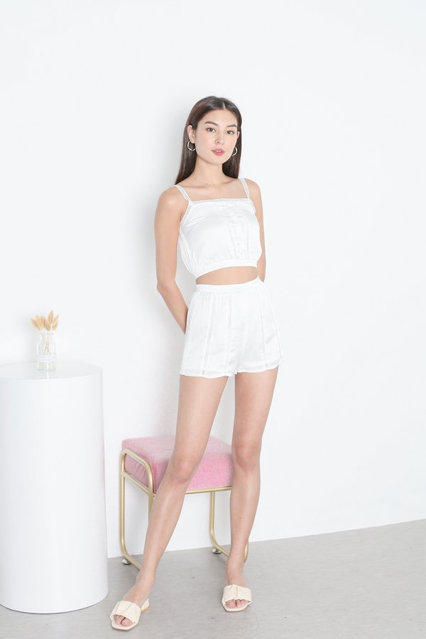 *TPZ* EYES ON ME LOUNGE SHORTS IN WHITE