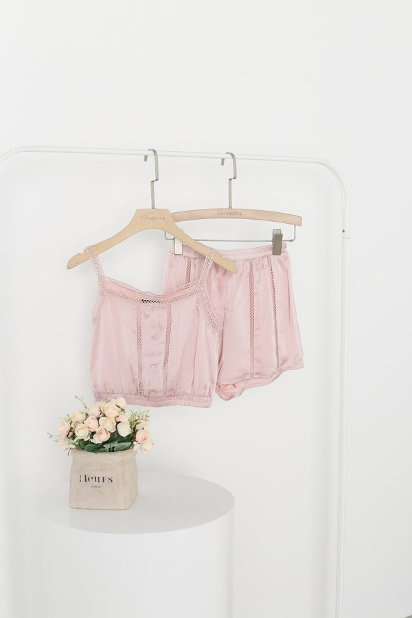 *TPZ* EYES ON ME LOUNGE SHORTS IN CRYSTAL PINK