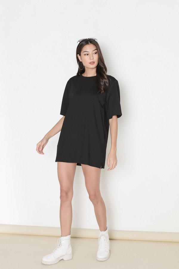 *TPZ* REVERIE T SHIRT DRESS IN BLACK