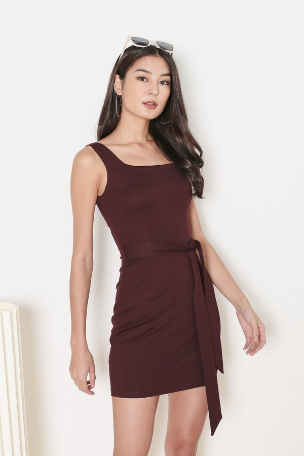 *TPZ* INTUITION DRESS IN BURGUNDY